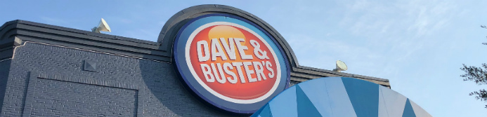 dave and buster's store sign