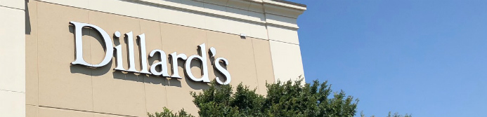 dillards department store sign