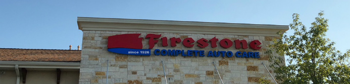 Firestone store sign