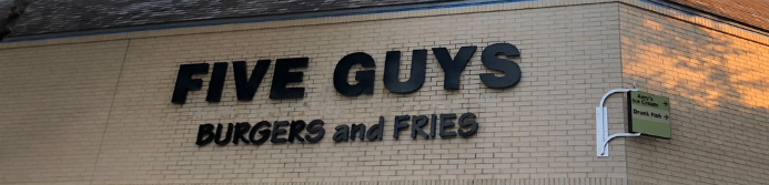 Five Guys store sign