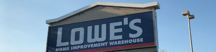 lowes home improvement store sign