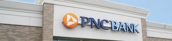 pnc bank sign outside of a bank branch