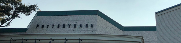 Pottery Barn store sign