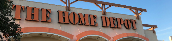 home depot store sign