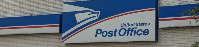 united states post office sign outside