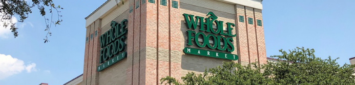 Whole Foods store sign